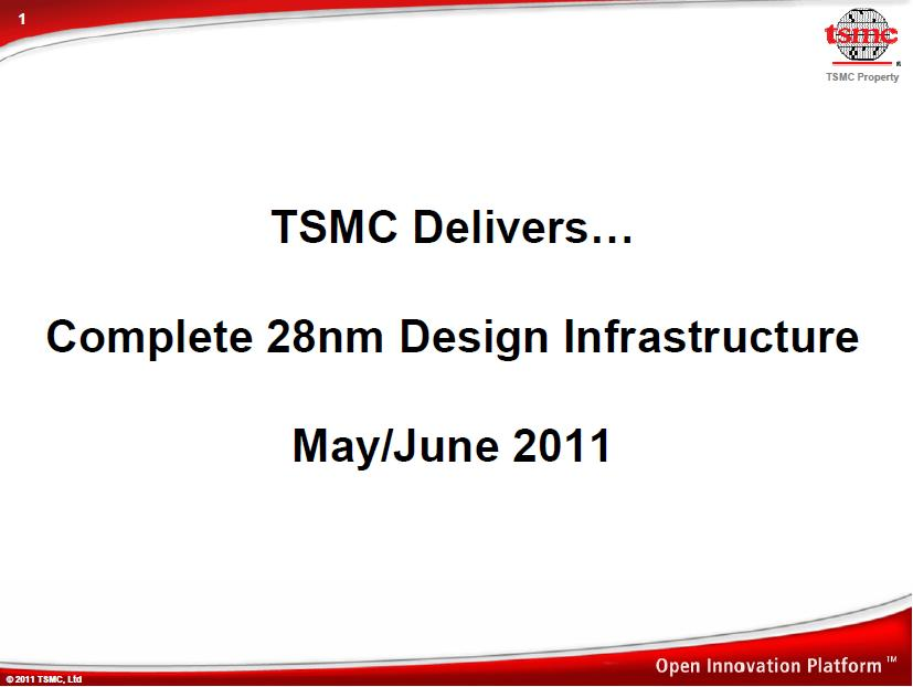 New TSMC 28nm Design Ecosystem! – SemiWiki