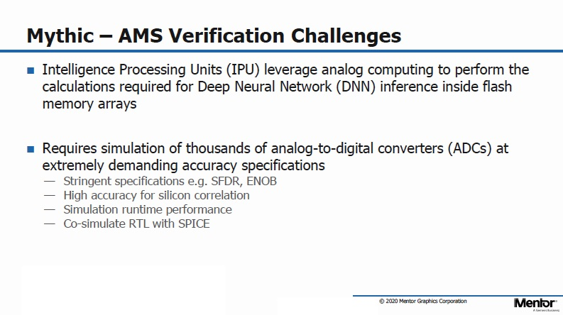 Mythic AMS Verification Challenges 1