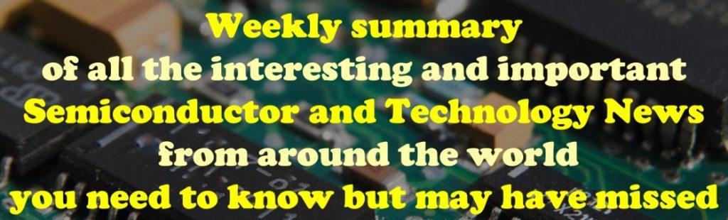 Semiconductor Weekly Summary 1