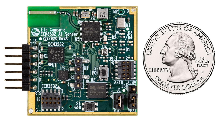 Eta Compute ECM3532 AI Sensor Board Top