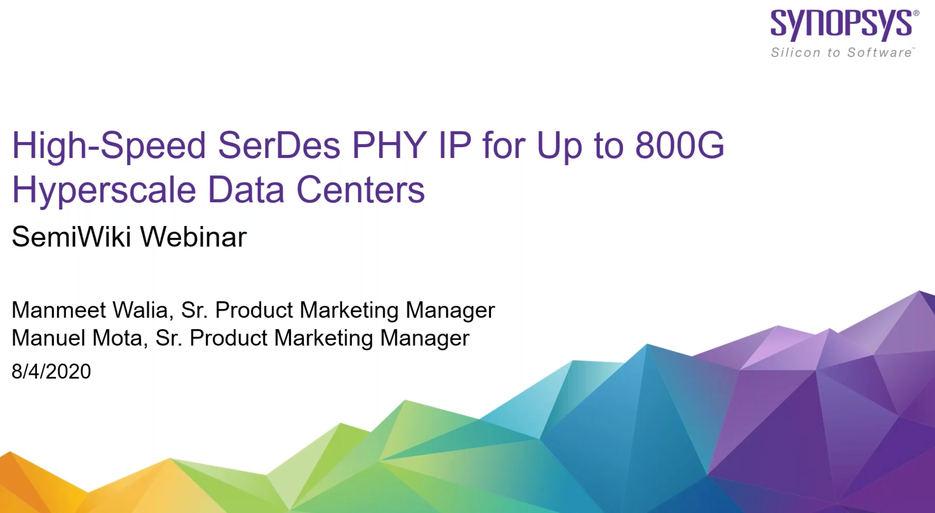 synopsys webinar high-speed serdes phy ip