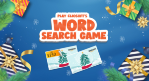 Cliosoft Holiday Word Game Search