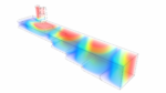ansys HFSS electric field distribution in coax to waveguide adapter