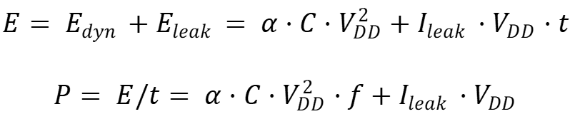 Basic equations for energy and power