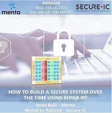 Menta Secure IC Webinar