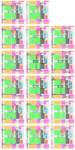 Seventeen horizontal layers of a complex digital chip design showing the interconnection layouts for each layer