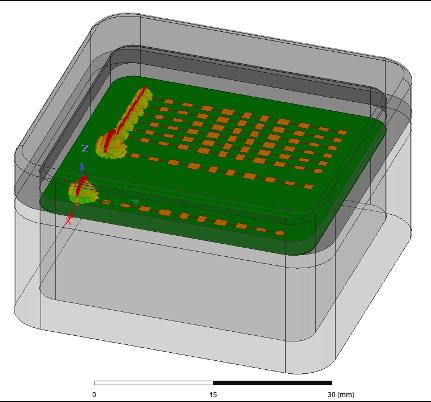automotive radar antenna array module