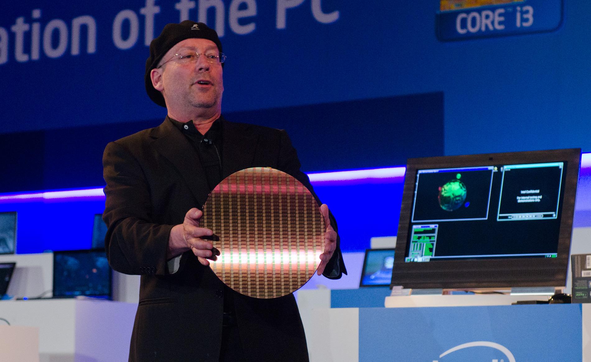 Intel 22nm wafer